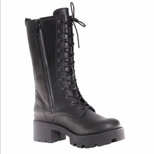 Shoes - NEW Tall Black Lace Up Combat Boots Size 8